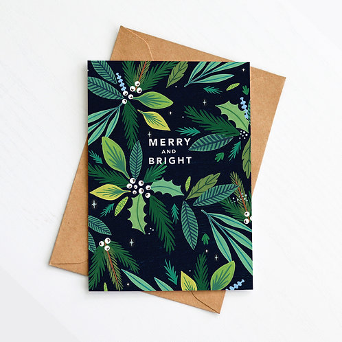 'Merry and Bright' Card
