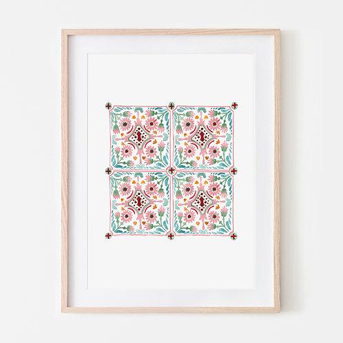 Pink Moroccan Tiles