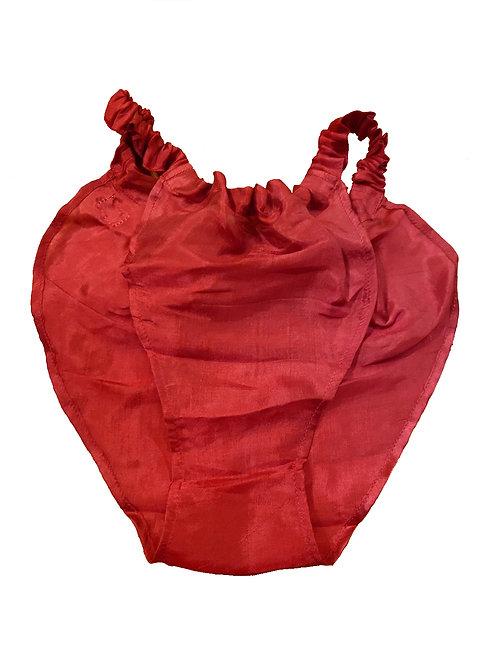 タイシルクショーツ Red (M)