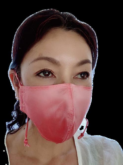 マスク【タイシルク100% 】ホットピンク