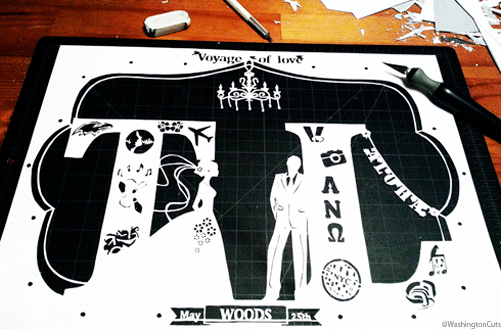 Wedding paper cut
