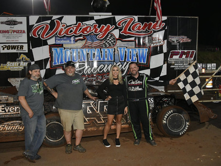 COLLINS CASHES IN FOR LATE MODEL WIN AT MOUNTAIN VIEW RACEWAY