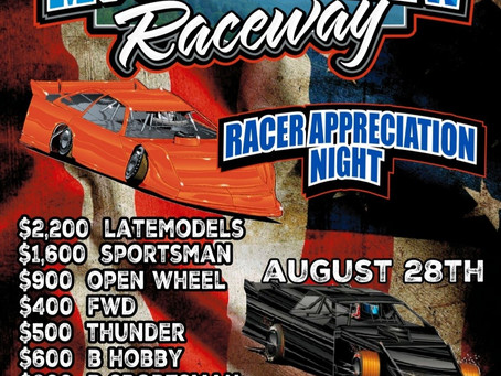 EXTRA CASH, DOUBLE POINTS FOR DRIVER APPRECIATION AT MOUNTAIN VIEW RACEWAY