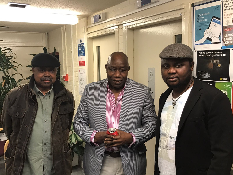 Mr V Kamara with Mustapha