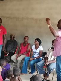 Mr Lightfoot Taylor addresses Makondu Women and girls