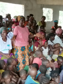 The Chair Lady of Makondu's women's group offered words of appreciation to Mr Lightfoot Taylor