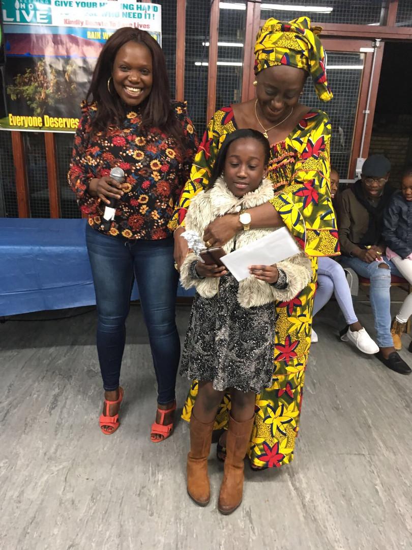 Star prize winner - daughter of Mrs K Yumkella Barlay