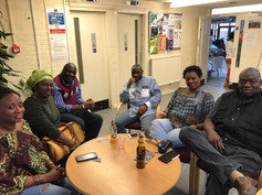 Mansaray sisters, Mrs Esther Kamara, Julius Riachards, Don Carr and friend