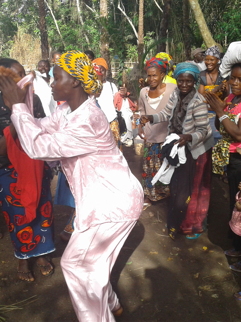 This beneficiary dances in her new pyjama