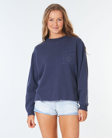RIP CURL WOMEN'S SEARCH POCKET CREW FLEECE