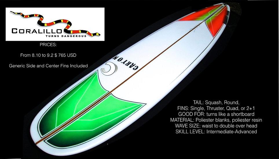 CARTON SURFBOARDS:CORALLILO LONG BOARD