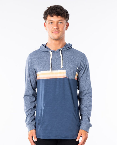RIP CURL  MEN'S REVIVAL HOODED LONG SLEEVE FLEECE
