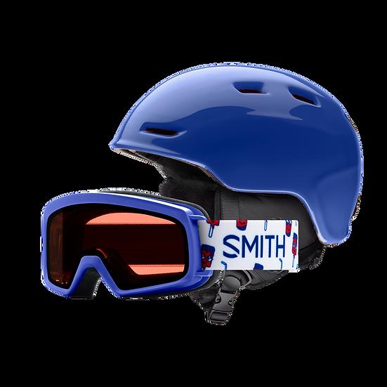 SMITH ZOOM/RASCAL JUNIOR COMBO SNOW HELMET AND GOGGLE
