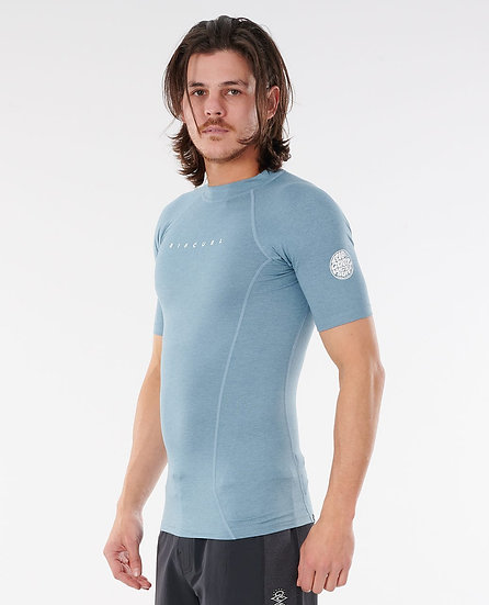 RIP CURL MEN'S DAWN PATROL SHORT SLEEVE PERFORMANCE RASH GUARD