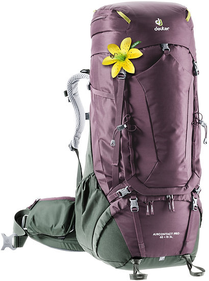 DEUTER AIRCONTACT PRO 65 + 15  SL WOMEN'S BACKPACKING AND MOUNTAINEERING