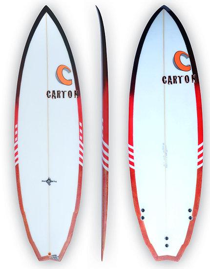 CARTON SURFBOARDS: PERRO BRAVO MODERN FISH DESIGN