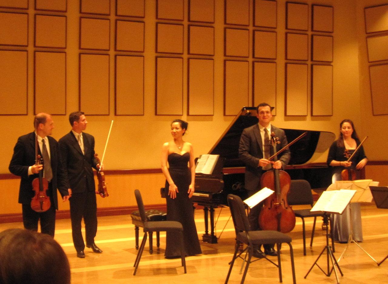 with the Penderecki String Quartet