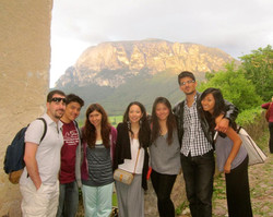 With students in Italy & Salzburg