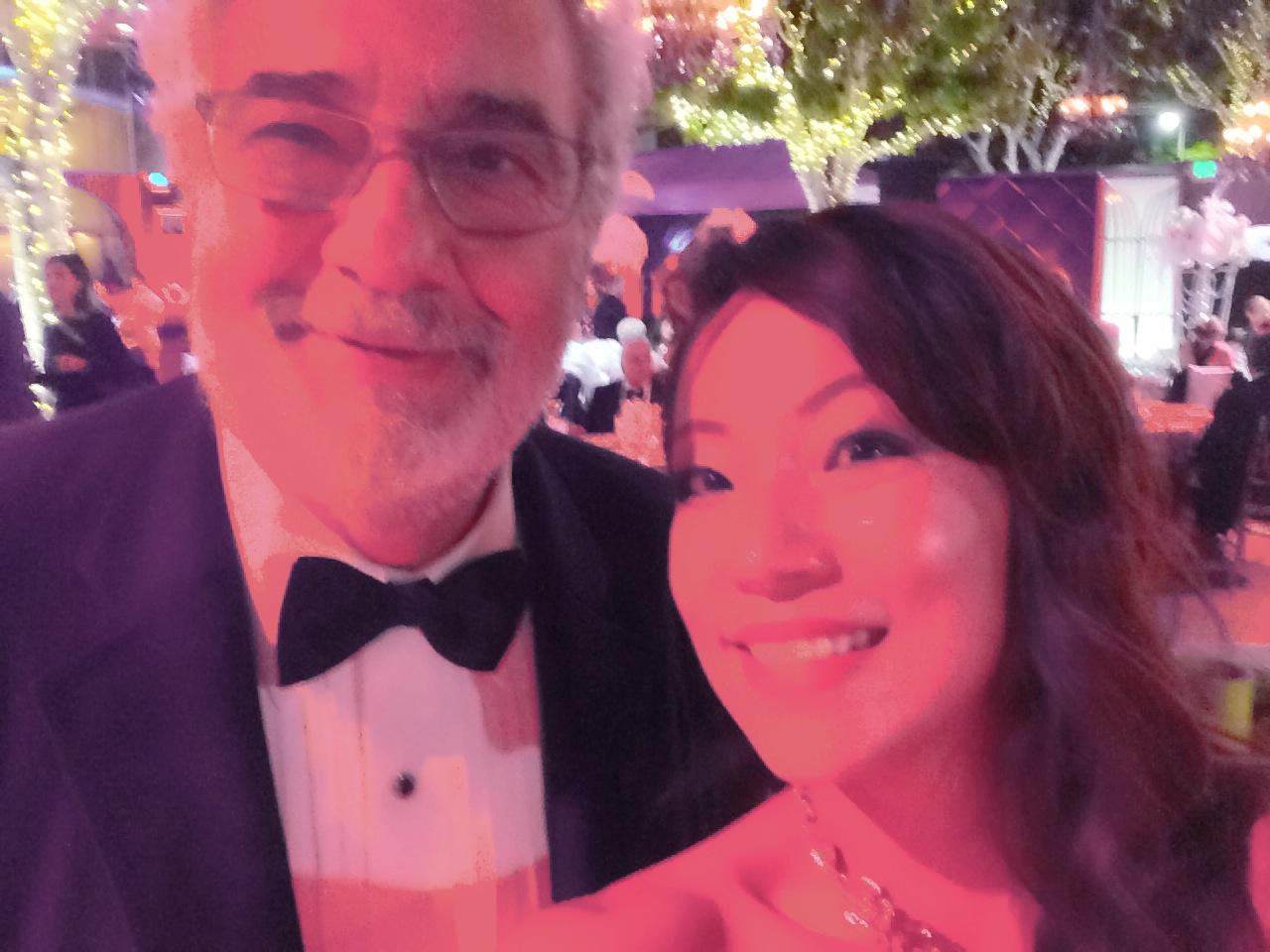 Selfie with Placido Domingo