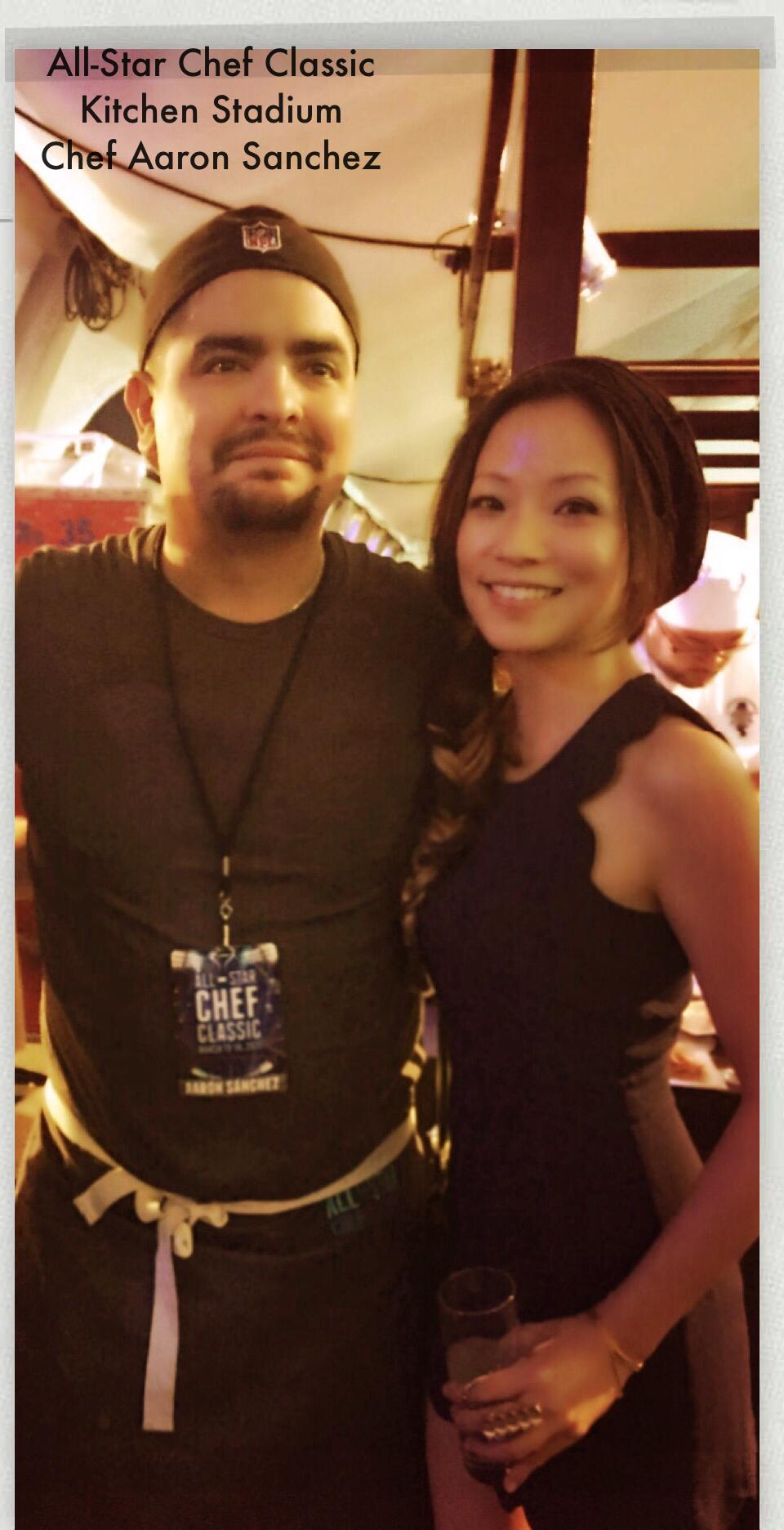 with Chef Aaron Sanchez