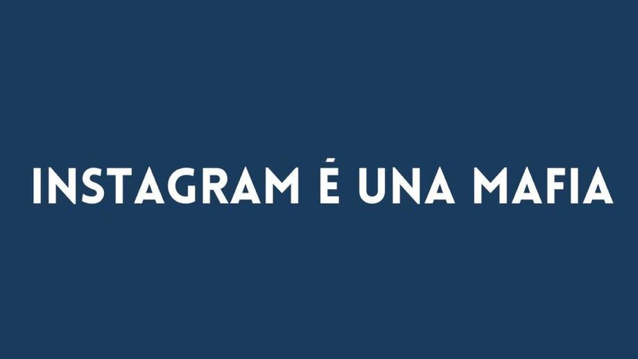 Instagram è una mafia, parola di Sara Melotti / Instagram is a mafia, as said by Sara Melotti