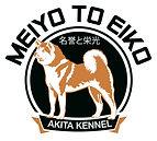 logotipo del criadero Meiyo to Eiko de la raza akita inu asentado en España