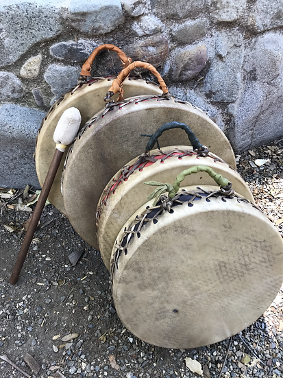 """Double Sided Elk drums 14""""+"""