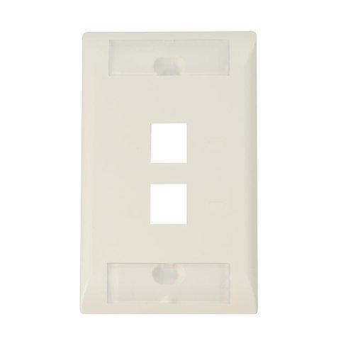 Faceplate 2 ptos Blanco/Almendra Completo 2111009-3