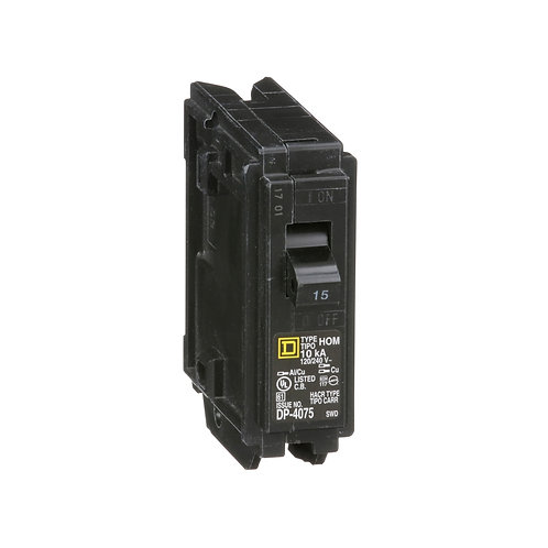 MINIATURE CIRCUIT BREAKER 120V - 15A HOM115