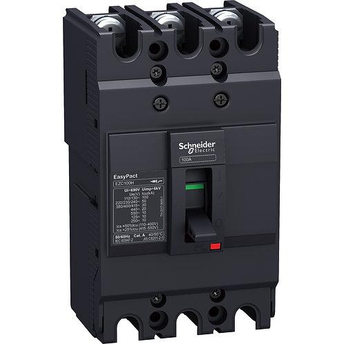 Disjuntor Easypact EZC100N - TMD - 30 A - 3 polos 3d EZC100N3030