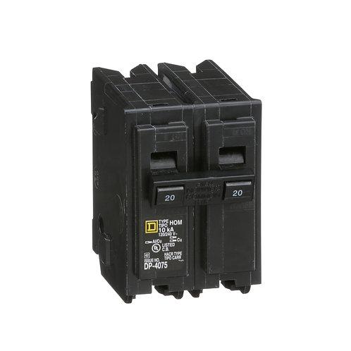MINIATURE CIRCUIT BREAKER 120/240V 20A HOM220