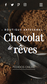 Catering e Chef website templates – Chocolateria