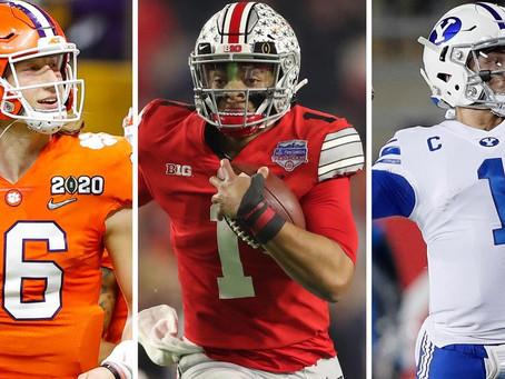 NFL Mock Draft 2.0: QB's Dominate Top 4 Picks, Pats Trade Up