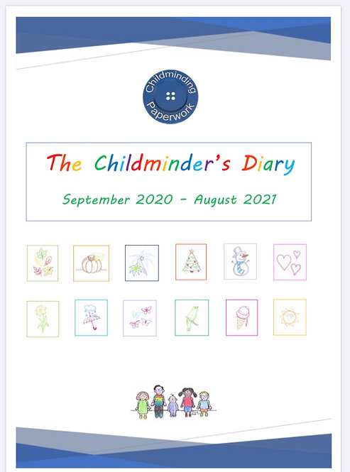 The Blue Button Childminder's Diary 2020/2021