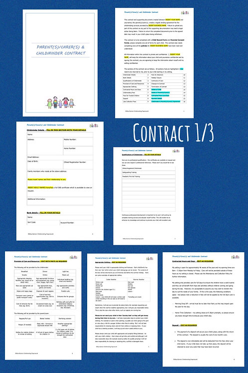 Contract, Child Record and Permissions Pack