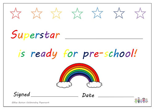 Getting Ready For Pre-School Pack