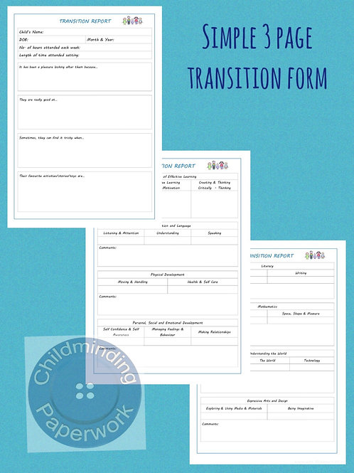 Transition Form