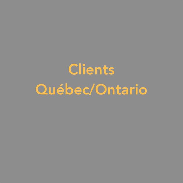 Clients du Québec/Ontario
