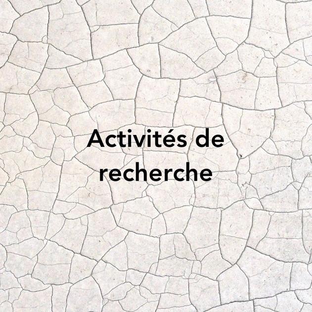 Quelques activités de recherche