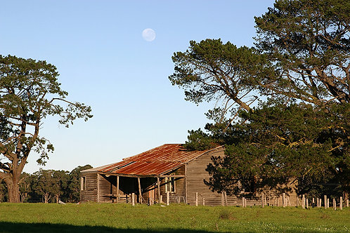 JS142-Cowaramup Shack under a full moon