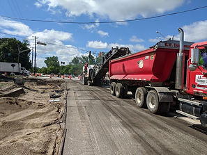 Milling Exisiting Pavement along IL-83.j