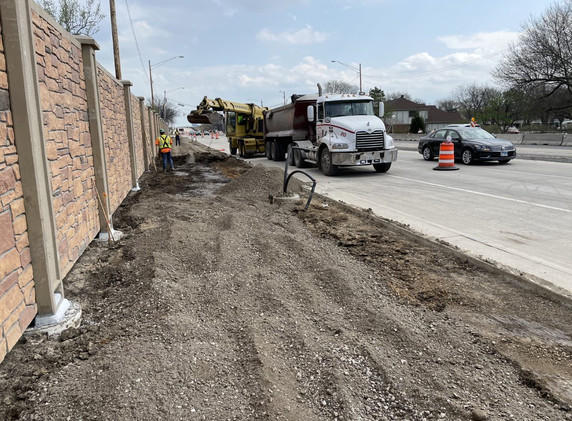 Installation of noise abatement wall A along the north side of Lake Cook Road west of Lexington Drive