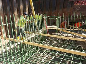 Aretha pouring BG Bridge Footing.jpg