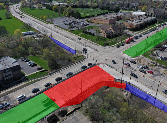 Lake Cook Road and Buffalo Grove Road intersection
