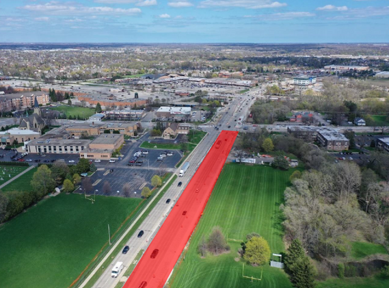 Lake Cook Road from Raupp Boulevard to Buffalo Grove Road
