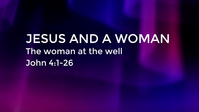 Jesus and a Woman, the Woman at the Well