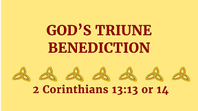 God's Triune Benediction