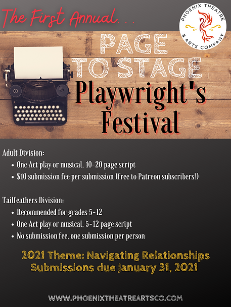 Page to Stage Playwright's Festival PTAC