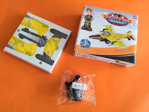 Puzzle 3D cartón Avión