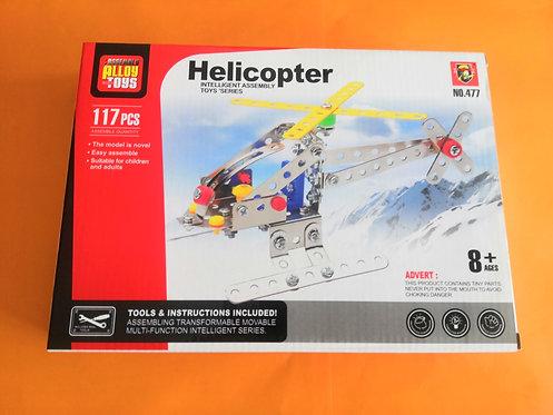 Puzzle metal helicóptero